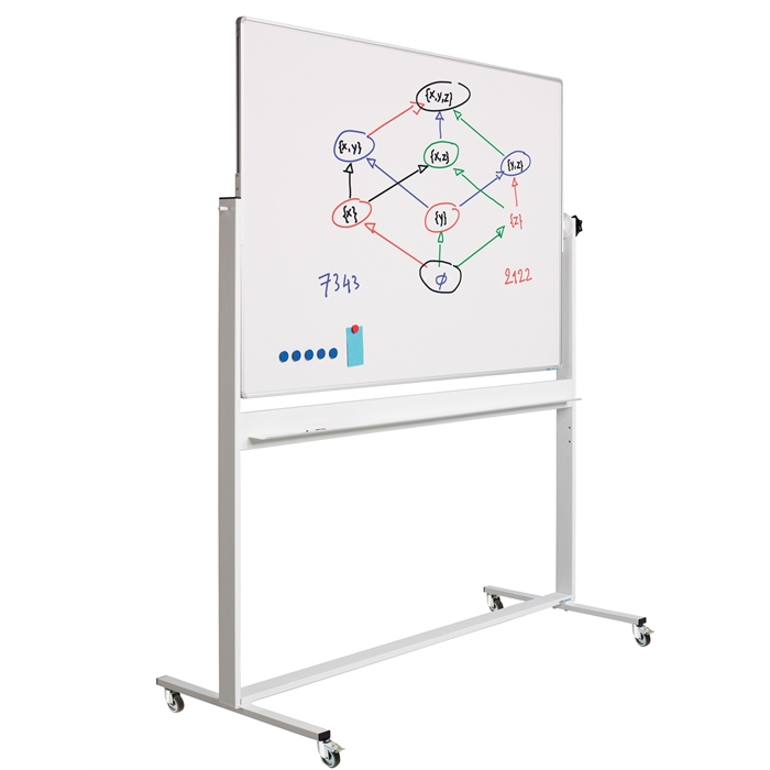 SMIT VISUAL 13009.101 - Revolving board RC, 10 mm Profile, Enamel white, 100x180 cm, Picture 1