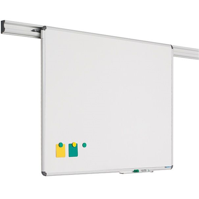 SMIT VISUAL 11102.100 - Design Rail whiteboard, Enamel steel, White, 90x180 cm, Picture 1