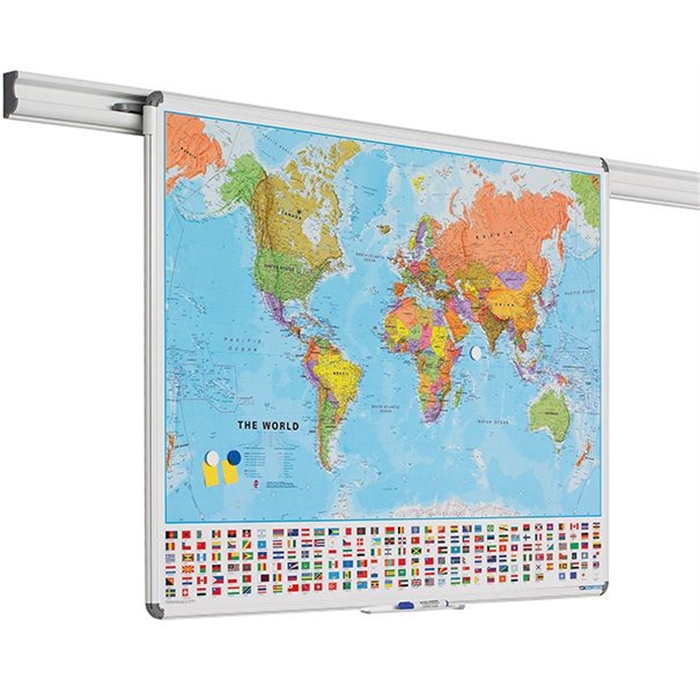 Picture of SMIT VISUAL 11102.117 - Design Rail map, world 100x136 cm