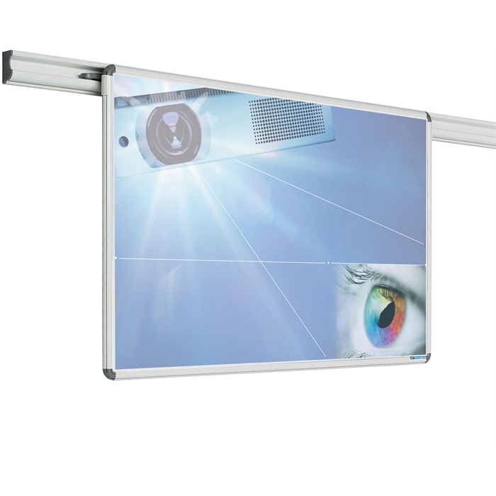 SMIT VISUAL 11102.160 - Design rail projection board writable, Matt white 118x157 cm (4:3), Picture 1