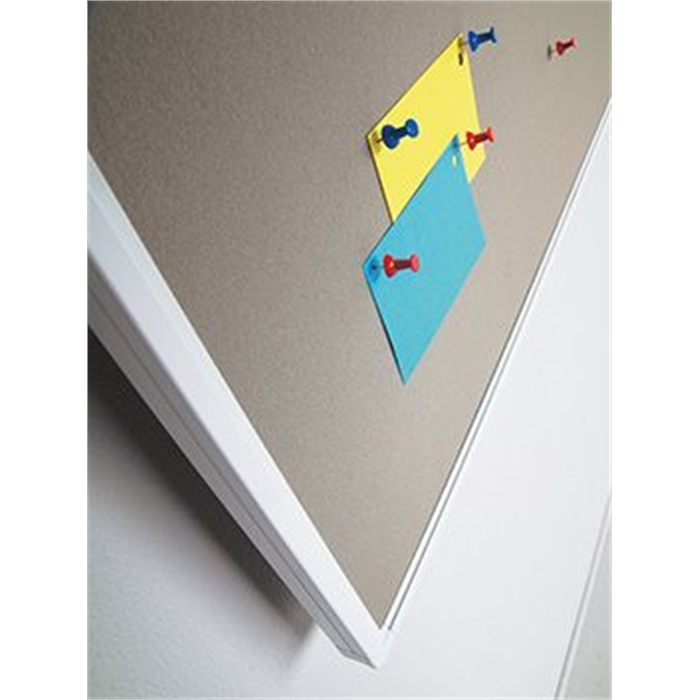SMIT VISUAL 11207.102 - PartnerLine rail pin board bulletin, Gray 60x90 cm, Picture 2