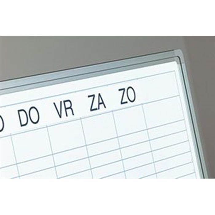 SMIT VISUAL 11103.188E - Double week planner, Softline profile, 8 mm, GB, Including daystrip, White, 90x120 cm, Picture 3