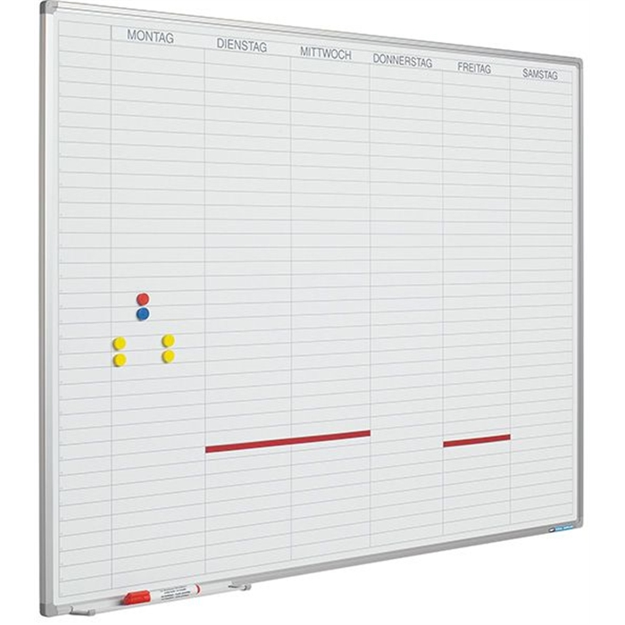 Picture of SMIT VISUAL 11103.185N - Planner Softline frame 8 mm Working days NL, including daystrips, White 90x120 cm