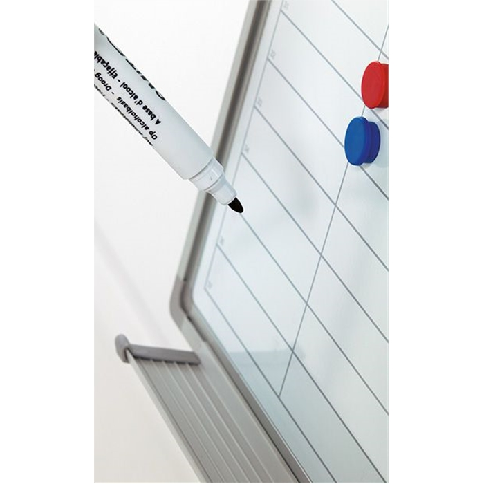 SMIT VISUAL 11103.185N - Planner Softline frame 8 mm Working days NL, including daystrips, White 90x120 cm, Picture 3