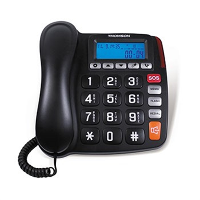 Fixed Line Telephone Screeny, Black, Picture 1