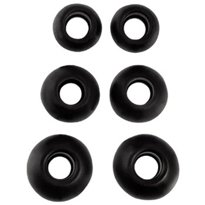 EARA310 BK Silicone Replacement Ear Pads, 6 pieces, black, Picture 1