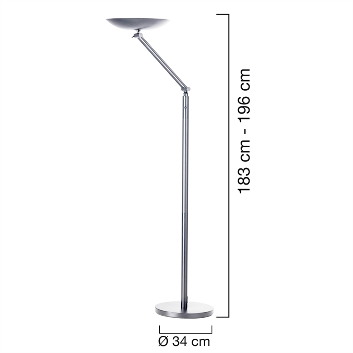 Unilux Varialux articulated Uplighter LED Metal grey Eu, Picture 2