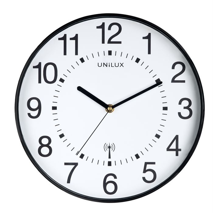Unilux Maxi Wave Clock Black, Picture 1