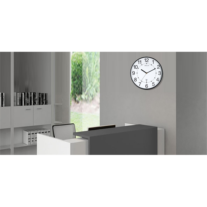 Unilux Maxi Wave Clock Black, Picture 2