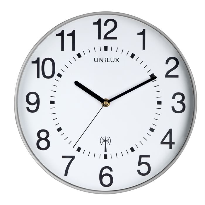 Unilux Maxi Wave Clock Metal grey, Picture 1