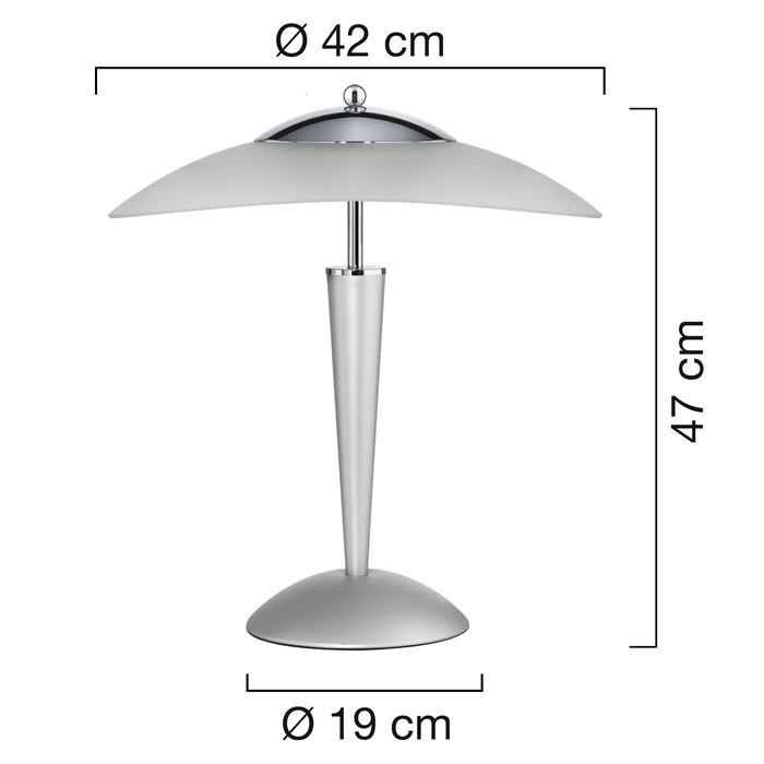 Unilux Cristal Lamp LED Metal grey Eu, Picture 3