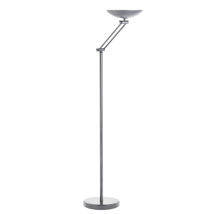 Unilux Dely articulated UplighterLED Metal grey Eu, Picture 1