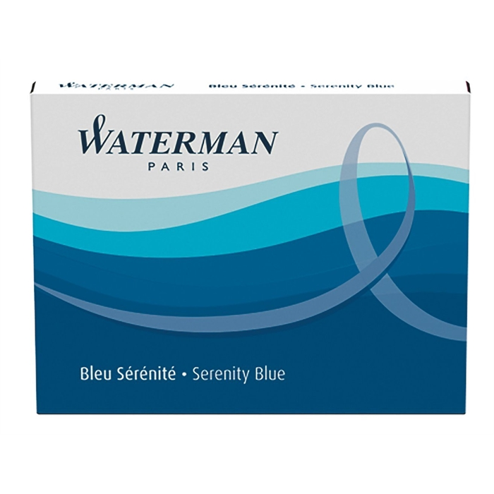 Picture of Waterman Standard Size Ink Cartridges Serenity Blue Carton of 8