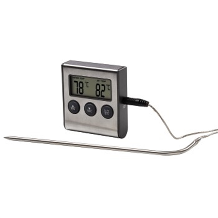 Afbeelding van Digital roast thermometer with timer, cable sensor / Bak en Braad Thermometer