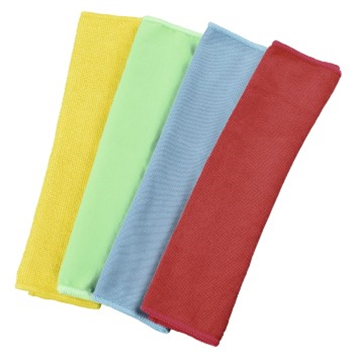 Picture of Microfibre Cloths, 30 x 30 cm, blue/green/yellow/red / Cleaning Cloth
