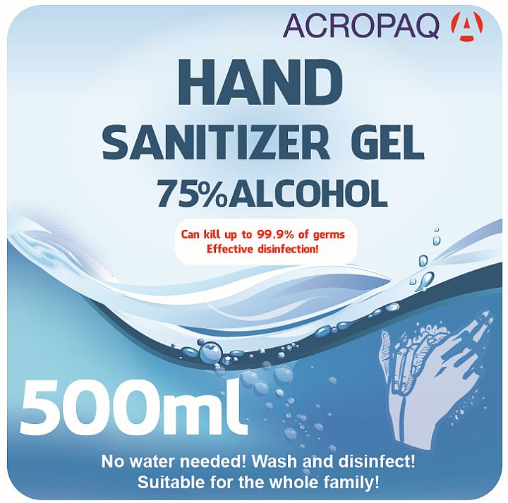 Picture of ACROPAQ AH002 - Hand Sanitizer Gel 500ml